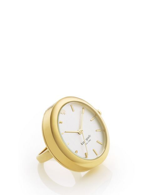 Gold Gramercy Ring - If the clock really works...it's great for work!