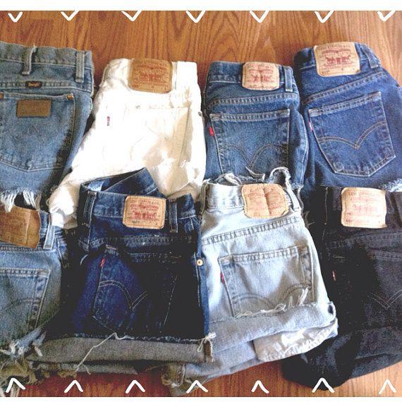 Mystery Vintage High Waisted Denim Shorts on Etsy, $19.00