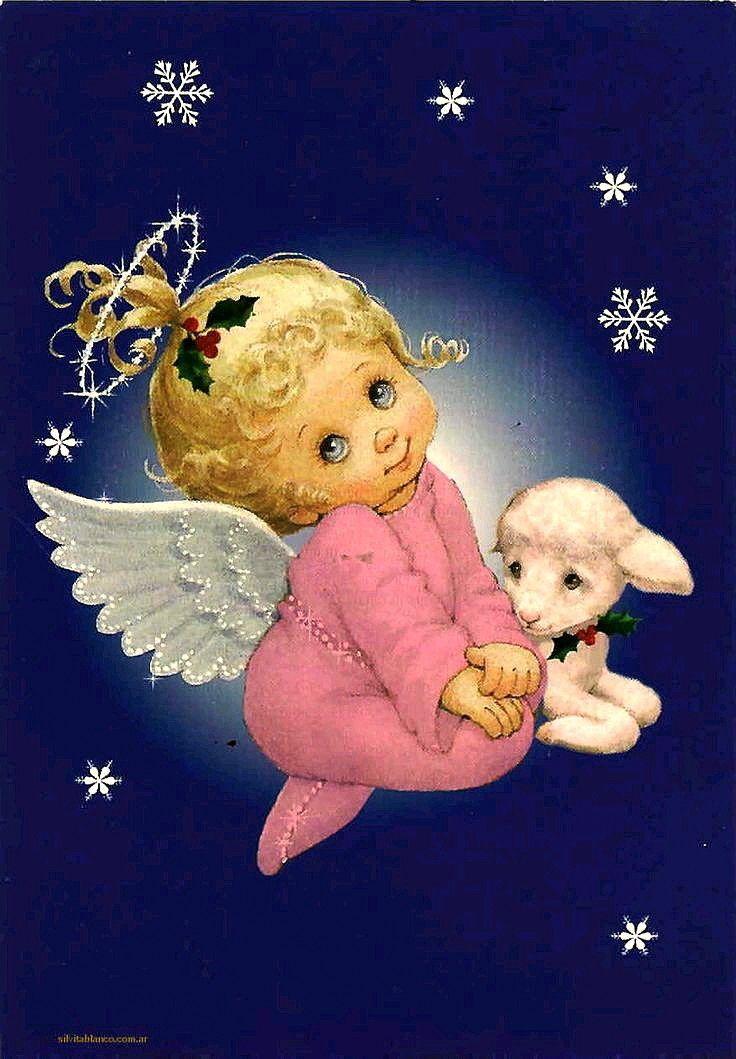 Картинки, открытки с рождественские ангелы