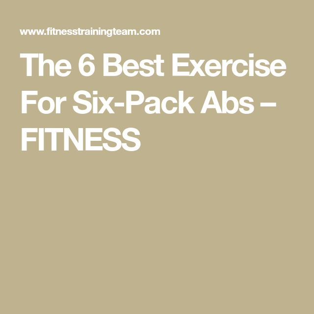 how to get a six pack best exercises