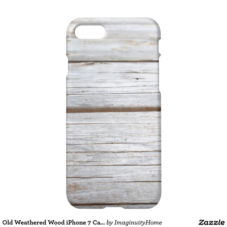 Old Weathered Wood iPhone 7 Case: Rustic image of old weathered wood. This protective case is a great way to enjoy and protect your new iPhone 7!