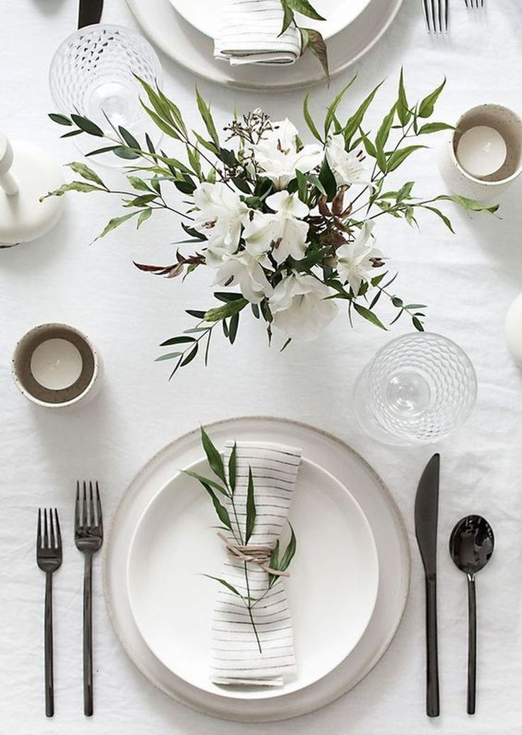 Awesome 36 Winter Decorations Table Settings