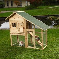Kanihäkki, 139,95€. Kaksikerroksinen kanihäkki puhdistuslaatikolla. Paljas alakerta, lemmikkisi voivat syödä tuoretta nurmea! Ilmainen toimitus! #kanihäkki