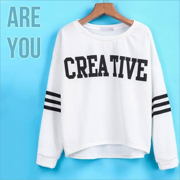 #creative #shop #bnfashionstore www.bnfashionstore.nl/kleding/truien-vesten/truien/witte-creative-trui-black