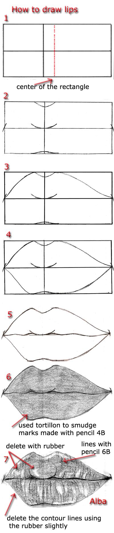 Tutorial draw lips - http://lamorghana.deviantart.com/art/Tutorial-draw-lips-3-271582368