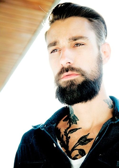 331 best tattoo images on pinterest tattoo ideas for Bearded tattooed man