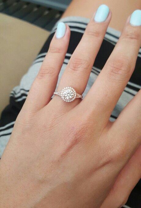 Flower Cut Diamond Engagement Ring
