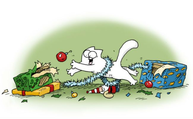 On 2nd day of Christmas ... I spent festive time with Simon's Cat