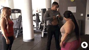 Me, at the gym. Part 1 of the BGC Chicago Reunion: A GIF-Cap.