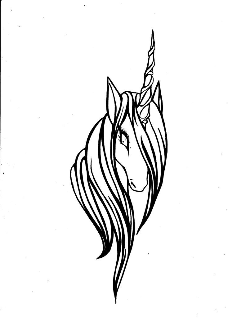 unicorn head by SylphOfSilence on DeviantArt
