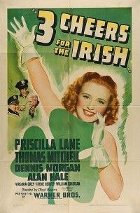 Priscilla Lane, Thomas Mitchell and Dennis Morgan - 3 Cheers for the Irish, 1940