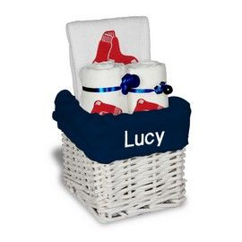 16 best images about boston red sox baby gifts on pinterest our personalized boston red sox small gift basket is a perfect baseball baby gift with 2 burp cloths and a bib personalized with the red sox logo negle Choice Image