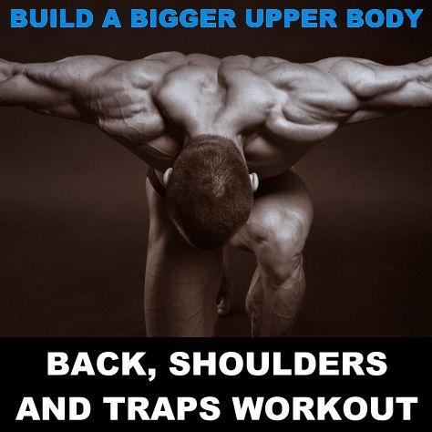 Build A Bigger Upper Body: Back, Shoulders And Traps Workout