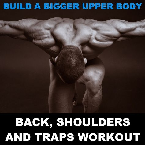 Build A Bigger Upper Body: Back, Shoulders And Traps Workout