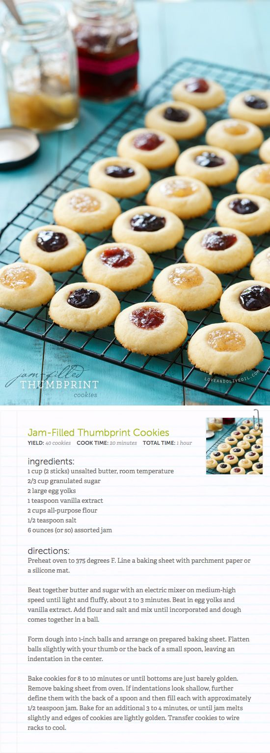 Jam-Filled Thumbprint Cookies