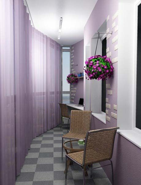 Beautiful and cozy balcony. Ideas for balcony registration. - оформление закрытого балкона