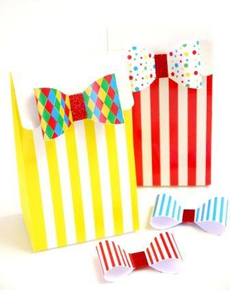 Boites Pochettes Surprise à cadeaux thème anniversaire cirque