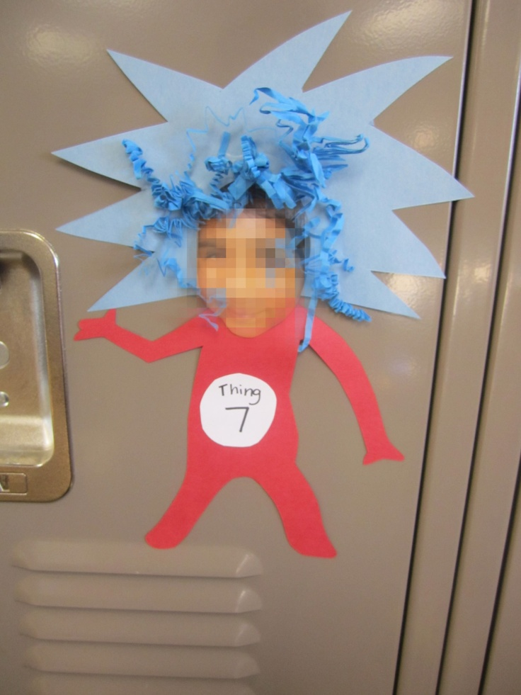Cat and the Hat Things Locker/Cubby Tags.