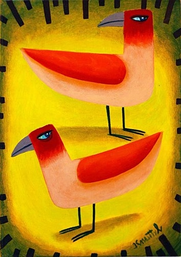 Graham Knuttel ''Two Birds'' #art #painting #birds #GrahamKnuttel #DukeStreetGallery