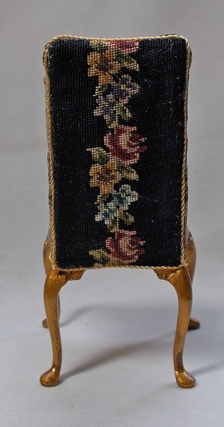Petit point miniature chair