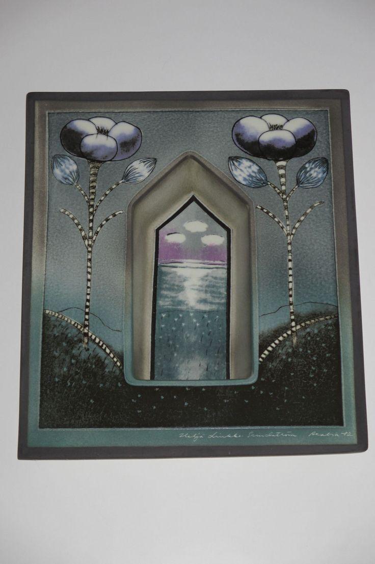 Helja Liukko Sundstrom Arabia Finland Lampetti Wall Lamp Candle Holder 1982 3