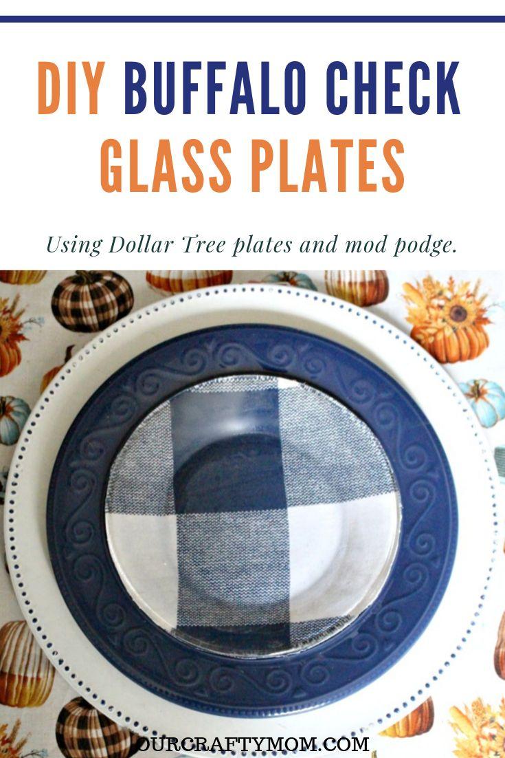 How To Make Beautiful Buffalo Check Plates With Mod Podge