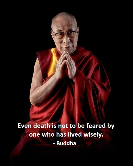 even death is not to be feared by one who has lived wisely. - the Buddha