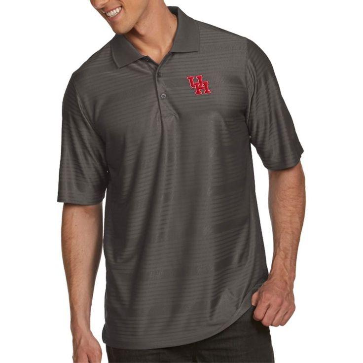 Antigua Men's Houston Cougars Grey Illusion Polo, Team