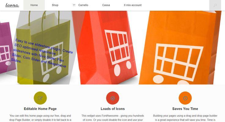 E-commerce particolare home page.