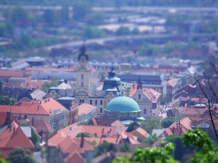 Tilt Shift of Pecs in Hungary