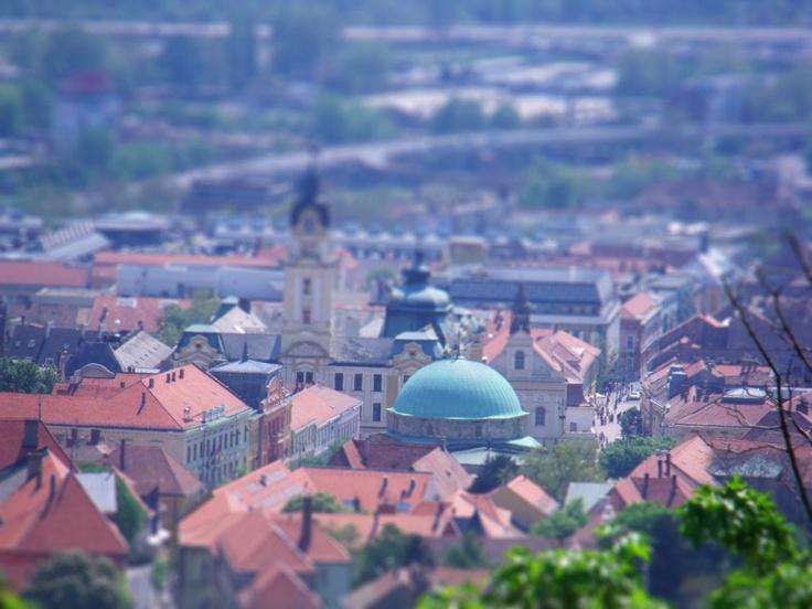 Tilt Shift of Pecs in Hungary