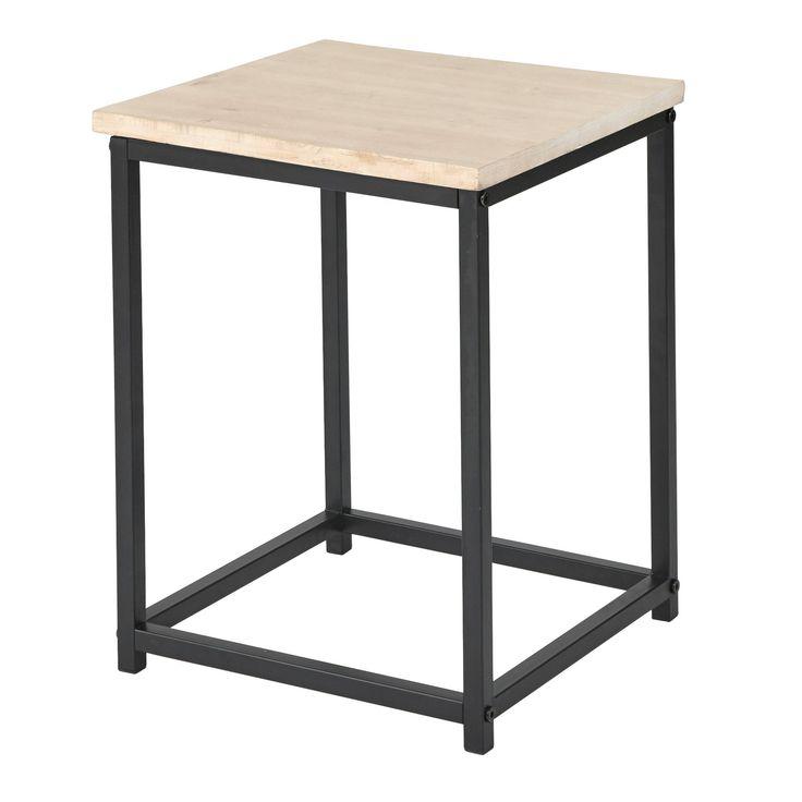 Lander End Table Black Angelo Home End Tables Side Table Living Room Side Table