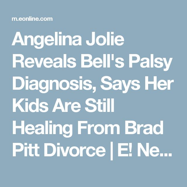 Angelina Jolie Reveals Bell's Palsy Diagnosis, Says Her Kids Are Still Healing From Brad Pitt Divorce   E! News