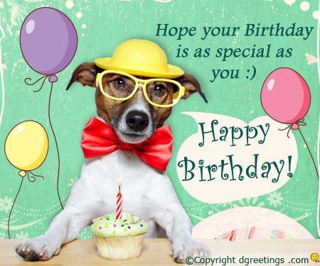 A fun birthday wish to make your friend & family smile.
