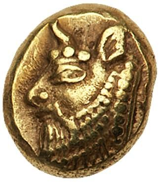 Ionia, Phokaia. Electrum Hekte (2.68 g), ca. 521-478 BC EF Ionia, Phokaia. Electrum Hekte (2.68 g), ca. 521-478 BC. Horned head of river god left; to right, small seal upward (off flan). Quadripartite incuse square. Bodenstedt 35. Well struck and well centered. Lightly toned. Extremely Fine. Estimated Value $500 From the Dionysus Collection. #Coins #Ancient #Greek #MADonC