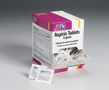 @ShopAndThinkBig.com - Comparable To Bayer? Aspirin, Our 5 Grain Aspirin Tablets Provide Temporary Relief Of Pain Due To Headache, Neuralgia, Toothache, Menstrual Pain, Muscle Aches And Inflammation From Arthritis Or Other Rheumatic Diseases. Also Helps Reduce A Fever Related To Cold And Flu. Active Ingredient: Aspirin, 325 Mg.… http://www.shopandthinkbig.com/aspirin-5-grain-250-2-packs-500-tablets-per-dispenser-box-first-aid-only-p-7104.html