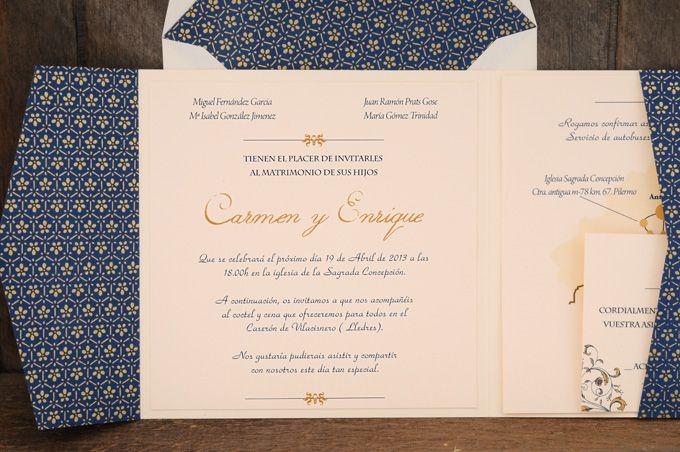Invitaciones de boda exclusivas: Boutique Azulsahara