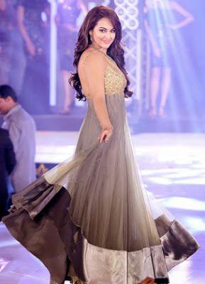 #SonakshiSinha Grey #Gown