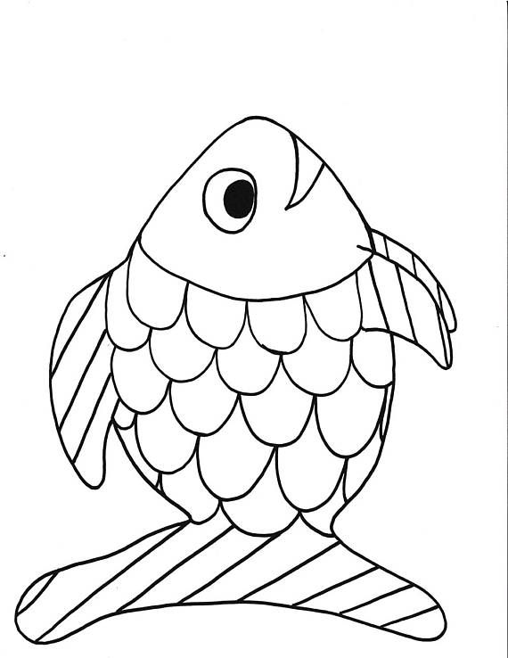 Rainbow fish printable coloring page,fish,printable,kids,coloring ...