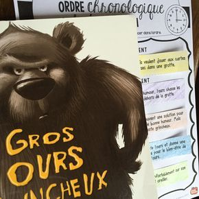 Littéralbum: travailler Le Gros ours grincheux avec littérature jeunesse/ Profs et Soeurs