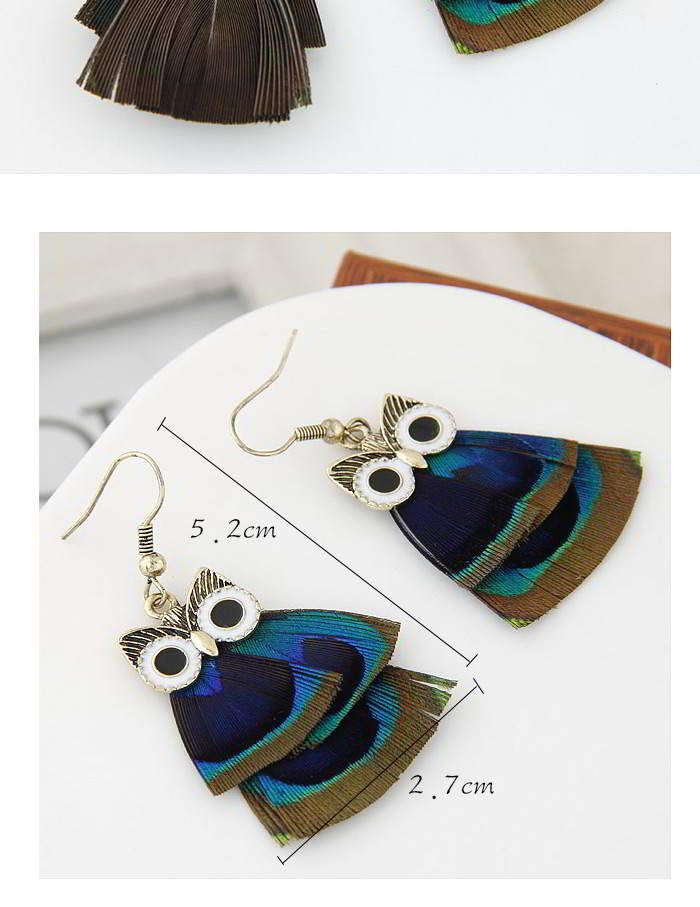 Feather Decorated Owl Shape Design Multicolor.  Fashionable with passion REPIN if you like it.😍 Only 76 IDR