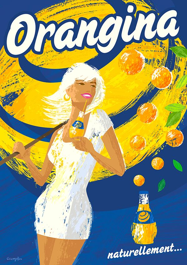 Drink poster created for self by Michael Crampton, via Behance