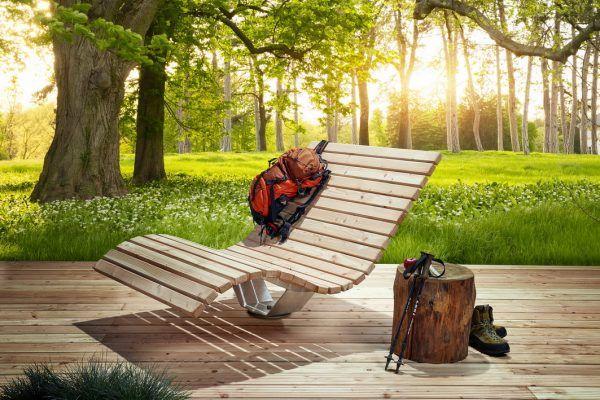 Waldsofa Drehbar Liege Garten Aussenmobel Relaxliege Garten