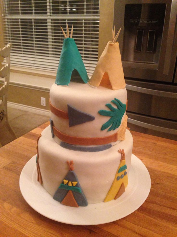 Teepee And Arrow Cake Cake Ideas Baby Shower Cakes