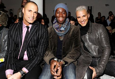 The now fired America's Next Top Model photographer Nigel Barker, runway coach J. Alexander and creative director Jay Manuel during Mercedes-Benz Fashion Week on February 15, 2012 in New York City. I probably won't watch the next cycle without them as they were the people who really made the show worth watching.