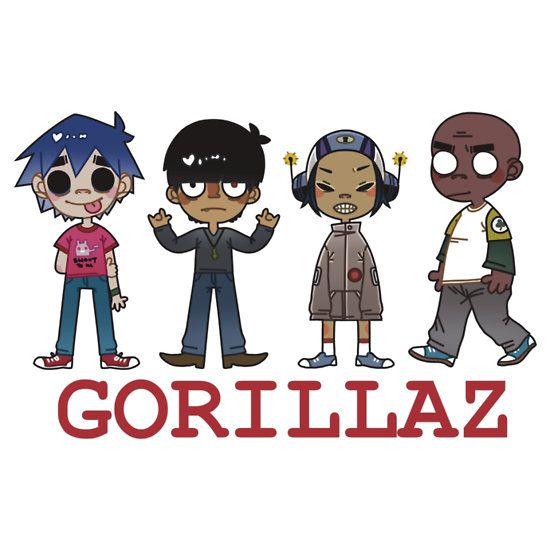This is a very nice artistic rendering of the Gorillaz, ya know? very digital design like