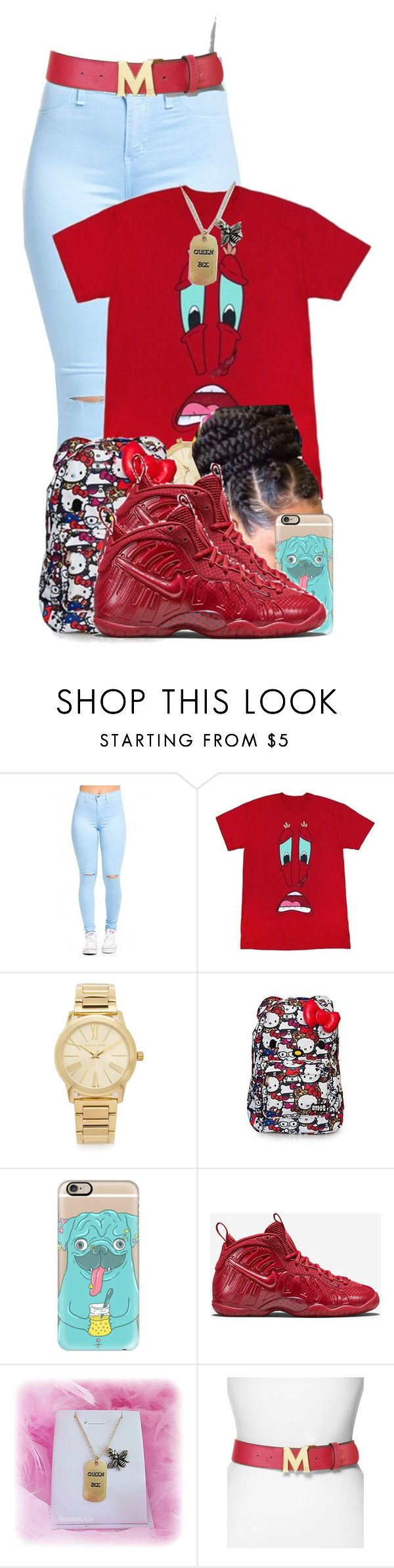 """""""Big Timers ✌"""" by aniahrhichkhidd ❤ liked on Polyvore featuring Michael Kors, Casetify, NIKE, Queen Bee, MCM, men's fashion and menswear"""