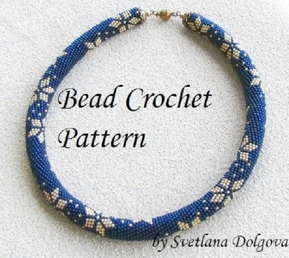 Bead Crochet Patterns : Pattern for bead crochet necklace Starry Night by DolgovaSvetlana, $7 ...