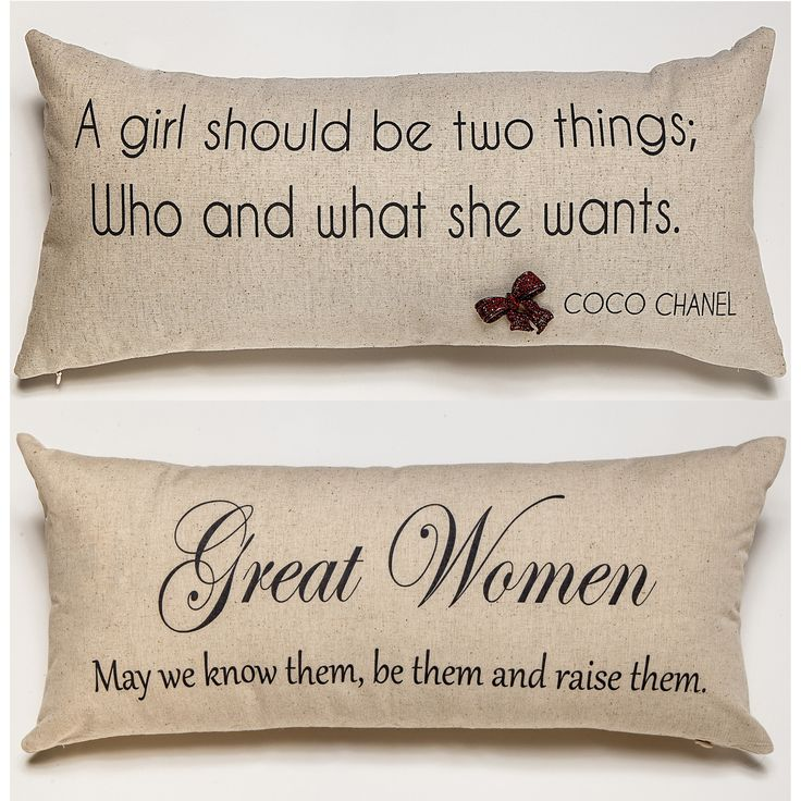 coco chanel quote pillow