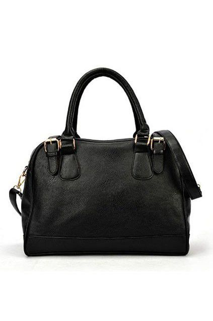Office Lady Boston Shoulder Bag With Double Straps Fastening Oasap